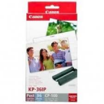 Photo Paper Canon KP-36IP+Ink Cassette 100x150mm (36 sheets) for CPseries