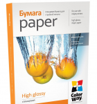 Photo Paper ColorWay 4R HighGlossy 180g 50pack (PG1800504R)