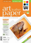 Photo Paper ColorWay Art Leather GlossyFinne A4 230g 10pack (PGA230010LA4)