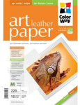 Photo Paper ColorWay Art Leather MatteFinne A4 220g 10pack (PMA220010LA4)