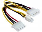 Cable Internal Power Splitter w/ATX 4pin connector CC-PSU-4