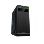 Case Sohoo 5907BG Black-Green (500W Miditower ATX)