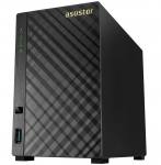 "NAS Server ASUSTOR 2-bay AS1002T (Marvell Armada-385 1GHz 512MB DDR3 3.5"" SATA x2 USB 3.0 x2 Gigabit LAN x1 4 Free Licenses)"