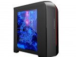 Case GAMEMAX H601BR Black-Red (w/o PSU Transparent Panel Rear 12cm Blue LED mATX)