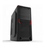 Case Sohoo 5912BR Black-Red (500W-120mm Miditower ATX)