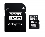 16GB MicroSD GOODRAM M1A4-0160R11 class 10 UHS I SD adapter
