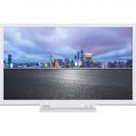 "24"" LED TV Toshiba 24W1754DG White (1366x768 HD 100 Hz 2xHDMI 1xUSB Speakers 2x4W)"