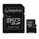 128GB microSDHC Kingston SDCS/128GB Canvas Select (Class 10 UHS-I with SD adapter 400x 80MB/s)