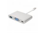 Adapter All-in-One USB3.1 TYPE C to VGA + USB3.0 + TYPE C APC-631011