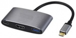 Adapter All-in-One USB3.1 TYPE C to USB3.0 + HDMI + USB3.1 TYPE C APC-631012