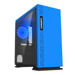 Case GAMEMAX EXPEDITION BL Blue ( w/o PSU Transparent Panel Rear 12cm Blue LED mATX)