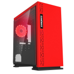Case GAMEMAX EXPEDITION RD Red ( w/o PSU Transparent Panel Rear 12cm Red LED mATX)