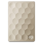 "External HDD 1.0TB Seagate Backup Plus Ultra Slim Portable STEH1000201 Gold (2.5"" USB3.0)"