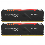 DDR4 16GB (Kit of 2x8GB) Kingston HyperX FURY Black Dynamic RGB HX430C15FB3AK2/16 (3000MHz PC4-24000 CL15 1.2V)