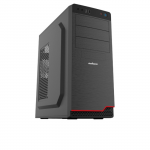Case Sohoo 5916BR Black-Red (500W-120mm Miditower ATX)