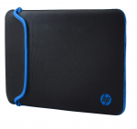 "15.6"" HP Notebook Bag Sleeve Chroma Reversible zipper-less Black/Blue"