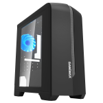 Case GAMEMAX Centauri Black-Grey (w/o PSU 1x120mm Blue LED mATX)