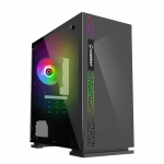 Case GAMEMAX Dark Ranger Black (w/o PSU 1x120mm Rainbow mATX)