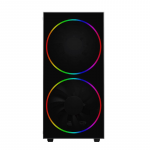Case GAMEMAX Black Hole Black (Transparent Panel MidiTower ATX)
